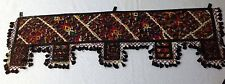 VTG Beautiful Handmade Embroidered Multi-Color Indian Door Hanging! used