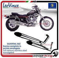 Leovince Silvertail Auspuff cromato genehmigt für YAMAHA XV 535 Virago 1988>2001