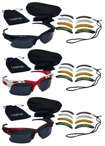CHEX Europa Fishing Sportsglasses Sunglasses 5 Interchangeable Lenses Hard Case