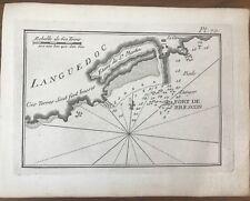 GRAVURE ROUX PLAN DU  PORT DE CAP D'AGDE ET FORT BRESCOU 1764