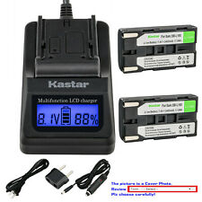 Kastar Battery LCD Fast Charger for Samsung SB-L160 Samsung VM-A3400T Camcorder