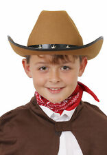CHILDS STAR STUDDED COWBOY HATS WILD WEST WESTERN STETSON COWGIRL FANCY DRESS