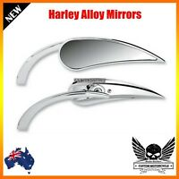Chrome claw rear view Mirror RAD II mini Teardrop Harley dyna softail vrod glide