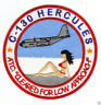 "C-130 HERCULES HUMOROUS PATCH, RED BIKINI ON BEACH, ""CLEARED FOR LOW APPROACH"" Y"