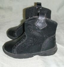 Weebok Reebok Girls Toddler Child Size 5 Black Suede Leather Cowboy Zipper Boots