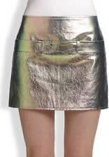 Marc Jacobs Metallic Watermelon Leather Mini Skirt $548 NWT 2 Runway