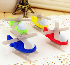 FD3712 Smart Helicopter Eraser Rubber Pencil Stationery Cute Children Gift 1pc