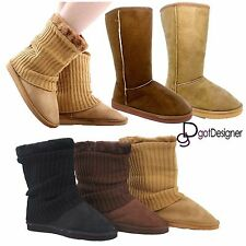 Womens Winter Fur Suede Snow Boots Ankle Flat Boots Warm Flat Shoes Fashion Size