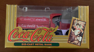 Coca-Cola Die-Cast Metal Collector's Bank - Coke Brand Red Truck - FREE SHIP!