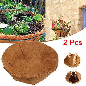 "2Pcs 24"" Round Replacement Coco Liner Coconut Fiber Plant for Hanging Basket Pot"