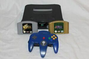 Nintendo N64 Consola + Mando Original Azul + Zelda Ocarina Of Tiempo + Majoras