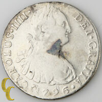 1796-LIMAE IJ Peru 8 Reales (Very Fine Details, VF) Lima Mint Charles IV KM#97