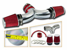 BCP RED 2004 2005 2006 2007 Liberty 3.7L V6 Dual Twin Air Intake + Filter