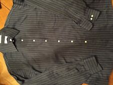 Mens Van Heusen Blue Broad Cloth Dress Shirt Sz L 16 1/2