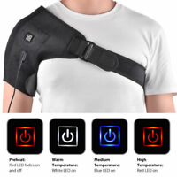 Unisex Heated Therapy Shoulder Belt Brace Protector Support Pain Relief/2M Cable