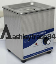 220V 2L Stainless Ultrasonic Mechanical Jewelry cleaning Machine 80W New