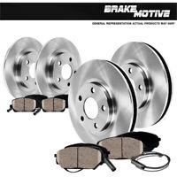 Front+Rear Disc Rotors + Ceramic Brake Pads For Mercedes-Benz C230 CLK350 SLK350