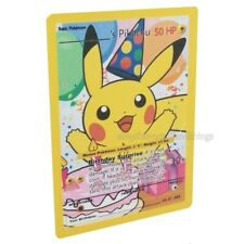 Pokemon happy birthday Pikachu Custom Full Art card (black star promo #25)