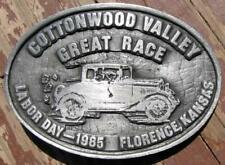 NOS ANTIQUE CAR GREAT RACE BELT BUCKLE SERIAL NUMBER 22 #E534