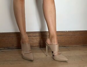 Tony Bianco Nude Mule Heels size 7