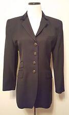 Ralph Lauren Women's Black Equestrian Jacket Wool Horse Head Buttons Sz 12 P