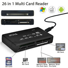 Mini 26-IN-1 USB 2.0 High Speed Memory Card Reader For CF xD SD MS SDHC Black
