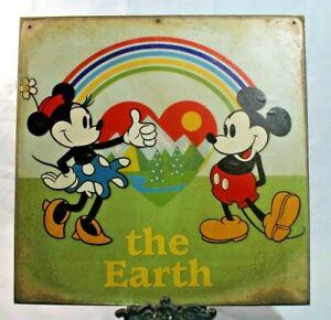MICKEY & MINNIE MOUSE Retro Handmade WALT DISNEY vintage sign