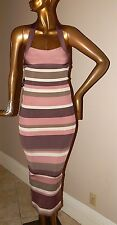 New Herve Leger Multi Color Stripe Bandage Dress sz XXS nwt