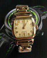 1949 Vintage HAMILTON 17 Jewels EMERY 10k GP 987 MVMNT Mens Wrist Watch