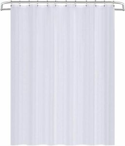 Plumbob White Polyester Shower Curtain 1800 x 1800, Separate PVC Liner, Washable