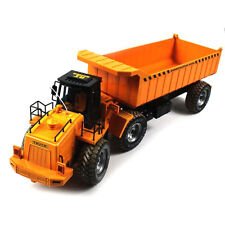 R/C Radio Remote Control Construction Vehicle Lifelike Dump Truck Toy Yellow NIB
