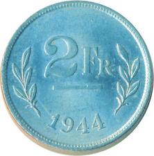 More details for coin / belgium / 2 franc 1944 unc full lustre      #wt6398