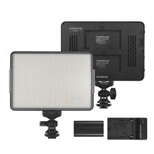 360 LED Video Light Panel Photography Studio Lamp Dimmable +Battery+Charger O3N9