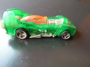 HOT WHEELS 1995 POWER ROCKET,TRANSPARENT GREEN 1/64 SCALE DIE-CAST