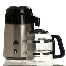 Megahome Deluxe Water Distiller With Glass Jug in Black UK 3 Pin Plug