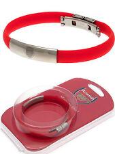 Arsenal FC in acciaio inox club CREST Bracciale Colorato Silicone Bracciale Regalo