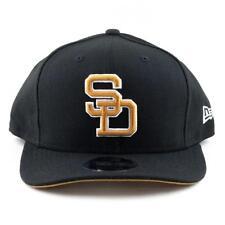 San Diego Padres New Era Cap MLB 9Fifty Curved Brim Hat In Black/Gum