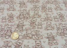 Cuddly toys ecru helles lachs Sweatshirtstoff Hilco Kinderstoff Babystoff 25 cm