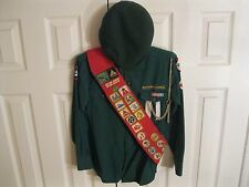 Heavily Decorated Canadian Boy Scouts Uniform Shirt with Badges & Beret