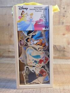 Disney PRINCESS Wooden Magnetic 16 Pc NEW