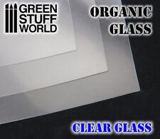 Plancha CRISTAL ORGANICO - para simular cristales ventanas parabrisas vehiculos