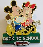 Disney DLR Back to School Mickey Mouse & Minnie Mouse Pin **