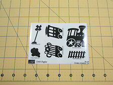 Stampin Up Little Engine Stamp Set of 6 Train Railroad Steam Caboose Engine