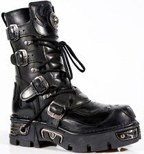 NewRock New Rock 107 S3 Black Skull Devil Biker Gothic Punk Platform Boots