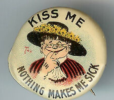 KISS ME Nothing Makes Me Sick Tokio Cigarettes Tobacco Premium Pin! *AS IS*