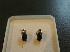 Boucles d'oreilles saphirs et diamants sur or 18 carats