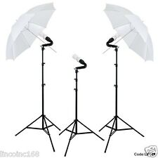 Photo Equipment Studio Umbrella Triple Lighting Light Kit