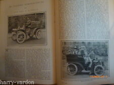 Rolls Royce Bollee Panhard Motor Car Old Antique Photo illustrated Article 1905