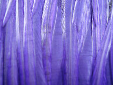 Hair Feather Extensions Purple Long Full Saddle