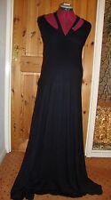 BNWT MATERNITY Stunning Black/Teal Halter Neck Style Maxi Dress Size Large 14-16